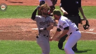 Bryce Harper Was At The Center Of A Massive Brawl Between The Nationals And Giants
