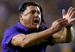 LSU's Football Coach Drinks An Insane Amount Of Energy Drinks In A Day