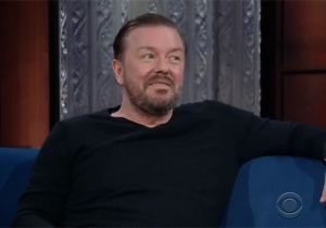 Ricky Gervais And Stephen Colbert Rekindle Their Religious Debate With A Surprising Twist