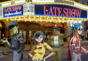 Stephen Colbert Teams With Gorillaz For A Very Special 'Late Show' Rendition Of 'Feel Good Inc.'