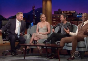 Terry Crews And Justin Theroux Compare Their Incredible Abs With James Corden