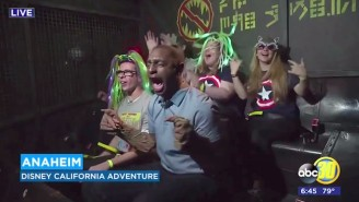 Disney's New 'Guardians Of The Galaxy' Ride Had A Reporter Completely Freaking Out On Live TV