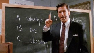 The Iconic 'Always Be Closing' Scene From 'Glengarry Glen Ross' Was A Last Minute 'Explosion' Added To The Script By David Mamet