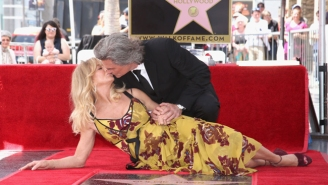 Goldie Hawn And Kurt Russell Receive Side-By-Side Stars On The Hollywood Walk Of Fame