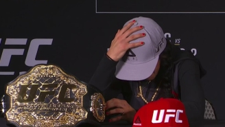 Joanna Jedrzejczyk Rushed From The UFC 211 Post-Fight Press Conference In Tears When Speaking About Her Coach