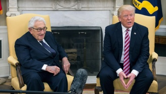 President Trump Met With Henry Kissinger In The Oval Office, And People Made So Many Nixon Comparisons