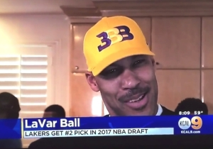 Watch Lonzo And LaVar Ball's Reaction When The Lakers Got The No. 2 Pick