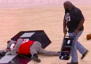 Mark Henry Obliterated A Fake Houston Rockets Mascot With A Chair