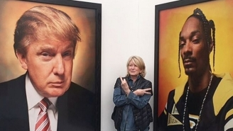 Martha Stewart Had The Perfect Reaction To Portraits Of Donald Trump And Snoop Dogg