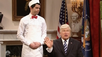 Trump Gets His Two Scoops Of Ice Cream From A Defeated Paul Ryan On 'SNL'