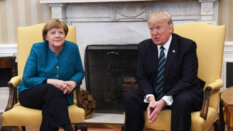 Angela Merkel In Front Of Trump: It's Not The 'Building Of Walls That Make Us Successful'