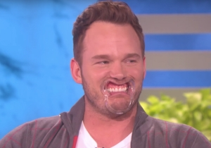 'Guardians of the Galaxy Vol. 2' Hero Chris Pratt Is A Giggly Mess Thanks To 'Ellen' And A Mouthguard