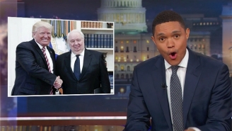 Trevor Noah Can't Believe How Hard Russia Is 'Owning' Donald Trump With Their Oval Office Visit