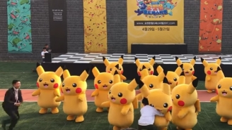 A Poor Pikachu Got Straight-Up Tackled And Dragged Offstage At A Pokemon Festival