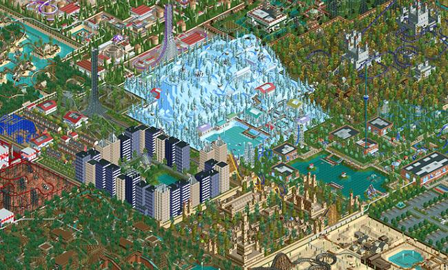 This Is What A Ten-Year-Old 'Roller Coaster Tycoon 2' Park