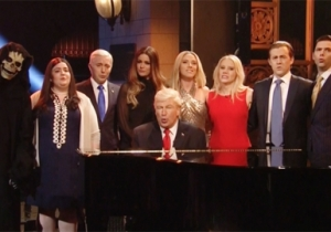 'SNL' Pokes Fun At Itself By Having Alec Baldwin's Trump And His Team Cover Leonard Cohen