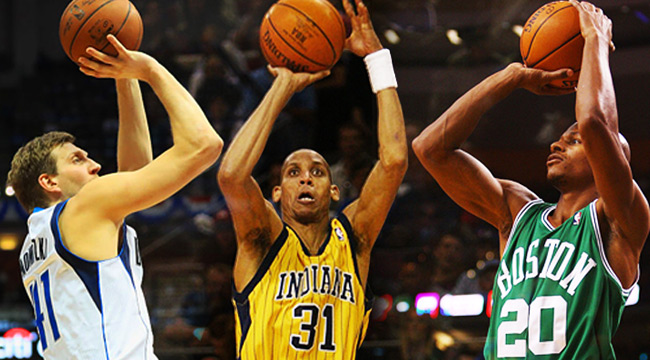 best shooters in nba history