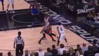 Dewayne Dedmon Continued The Series Trend Of Questionable Plays With This Shot On Steph Curry