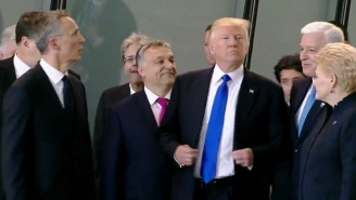 People Seem To Think Trump Shoved Another NATO Leader Out Of The Way To Get Top Billing