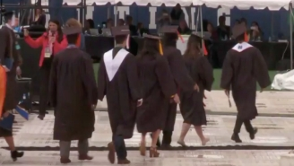 Over 100 Notre Dame Grads Walked Out During Mike Pence's Commencement Address