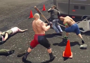 This 'Grand Theft Auto V' Mashup Has WWE Superstars And Commentary And It's Perfect