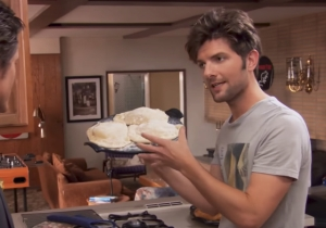 Adam Scott's Inability To Make A Pizza Extends A 'Parks And Rec' Running Joke Into Calzone-Filled Reality