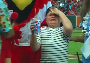 This Kid's Face Was Full Of Pain After Dominating An ICEE Chugging Contest