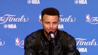 Stephen Curry Was Awkwardly Asked About Fake Pooping On The Cavaliers Floor Again After Game 4