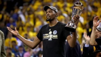 Kevin Durant Gave An Emotional Interview After Finally Winning His First NBA Title And MVP Award