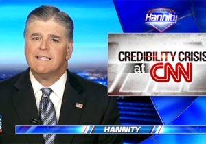 Sean Hannity Bizarrely Uses A Debunked 'Fake News' Story To Claim CNN Has A 'Credibility Crisis'