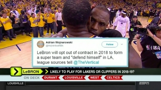 ESPN's 'Around The Horn' Got Burned By A LeBron Rumor From A Fake Adrian Wojnarowski Account