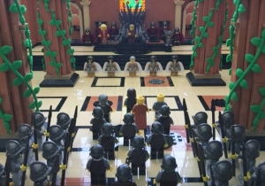 Someone Spent 18 Long Months Building The Throne Room From 'Game Of Thrones' Entirely Out Of Lego