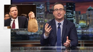 John Oliver Celebrates James Comey's Testimony Against Trump With A Spot-On 'Fight Club' Analogy