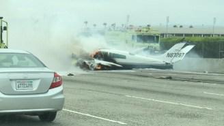 A Small Plane Crashed Onto A Busy California Highway Near John Wayne Airport