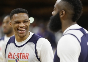 Russell Westbrook Is 'Totally Fine' Playing Off The Ball With James Harden