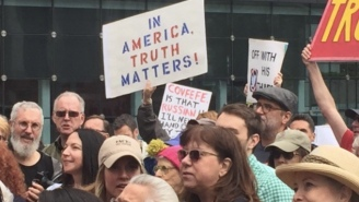 Protestors Across The Globe Participate In The 'March For Truth' Rallies That Are Taking Aim At Donald Trump