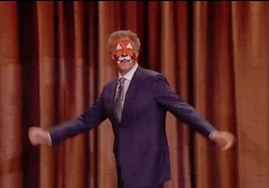 Will Ferrell Showed Up To 'Conan' With Evidence Of A Kid's Birthday Party On His Face