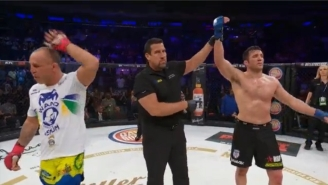 Chael Sonnen Dominates Wanderlei Silva In A Weird Brawl Then Calls Out Fedor Emelianenko At Bellator 180