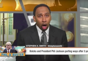 ESPN's Stephen A. Smith Was So Excited Phil Jackson Left The Knicks He Came In On Vacation