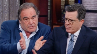 Stephen Colbert Grills Oliver Stone Over His Fawning Praise Of Putin: 'Does He Have Your Dog In A Cage Someplace?'