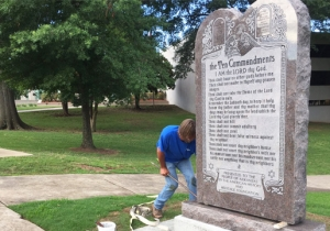 A Suspect Has Been Arrested For The Destruction Of A 10 Commandments Monument At The Arkansas Capitol