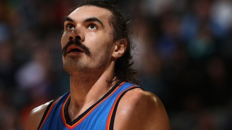 Steven Adams Is Practicing Free-Throws By Having A Thunder Coach Punch Him In The Gut