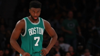 Jaylen Brown's Drive-By Dunk Challenge Video Interrupted Two People Who Were Shooting Hoops