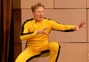 Conan Dons Bruce Lee's Yellow Jumpsuit And Has His Butt Kicked By Some Martial Arts Experts
