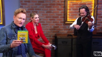 Conan Gets Creepy With Kate Upton While Tackling 'Cuphead' On The Latest 'Clueless Gamer'