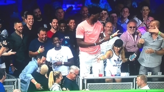 Joel Embiid Tried To Catch A Dinger At The Home Run Derby Just Like Every Other Fan
