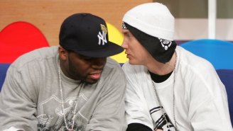 Watch Eminem Perform A Verse By 50 Cent That He Claims Almost Made Him Quit Rapping Because It Was So Good