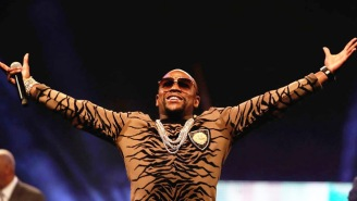 Floyd Mayweather Is Under Fire For Using A Homophobic Slur To Insult Conor McGregor