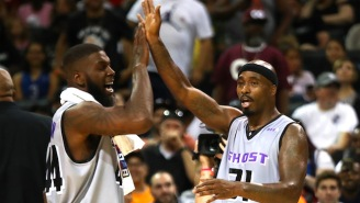 Ricky Davis Threw Down A Nasty Dunk On Stephen Jackson In Their BIG3 Matchup