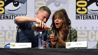 Halle Berry Demonstrated Her Tolerance For Fine Whiskey During The 'Kingsman 2' Panel At Comic-Con